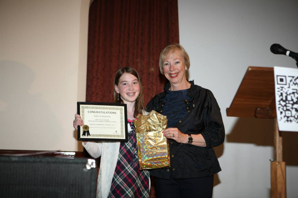 First Prize-Rebecca Maddison, Escuela Robert Warren School For Her Essay A Press For Change, On Annie Gale