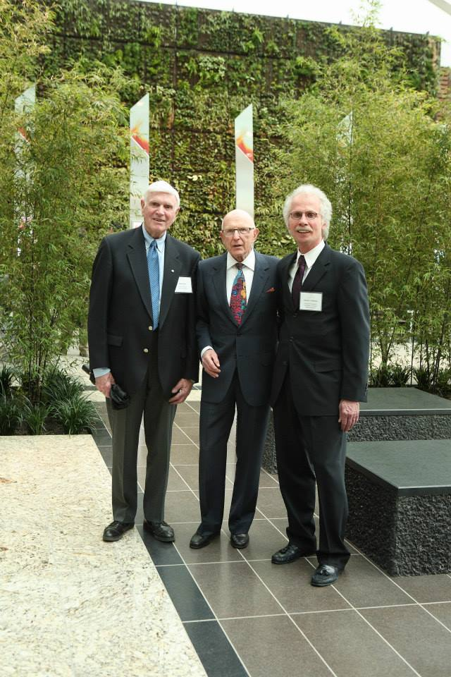 John Currie, Harold Milavski, And Gordon Hoffman, In Front Of The Monuments