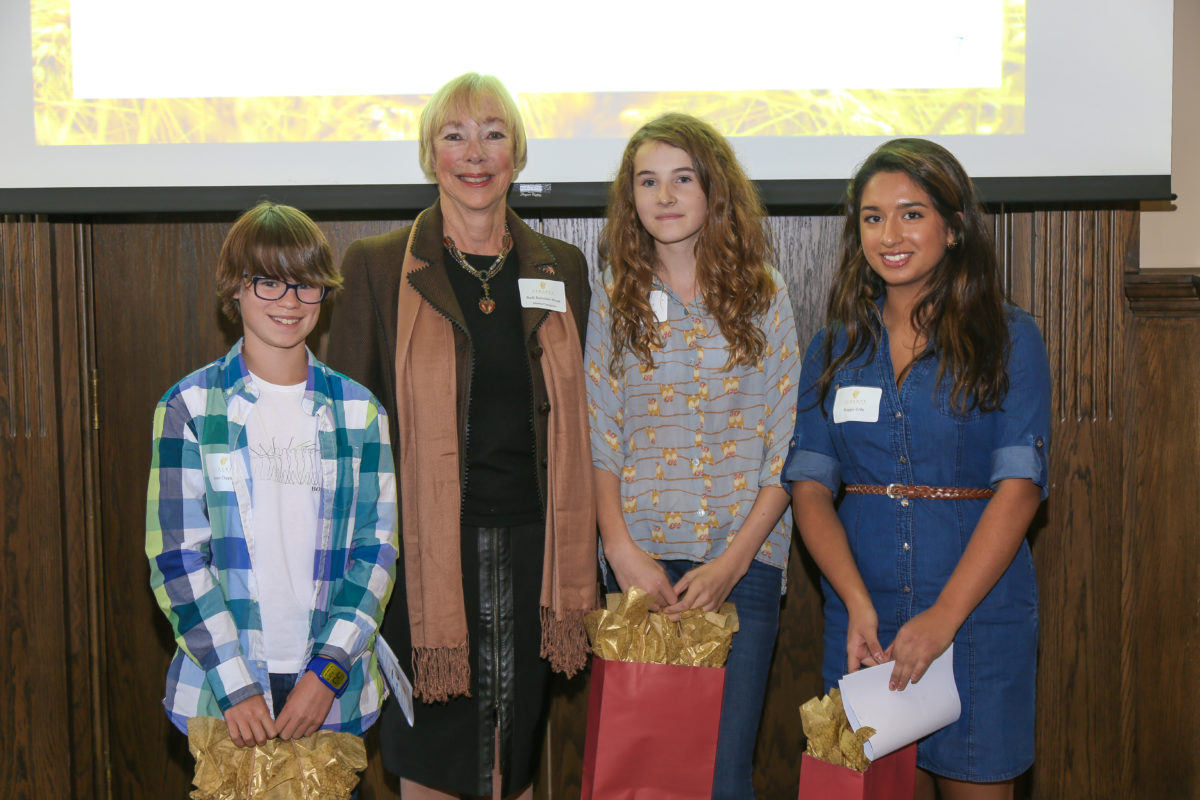 Student Contest Winners With Ruth Ramsden-Wood From Alberta Champions Board