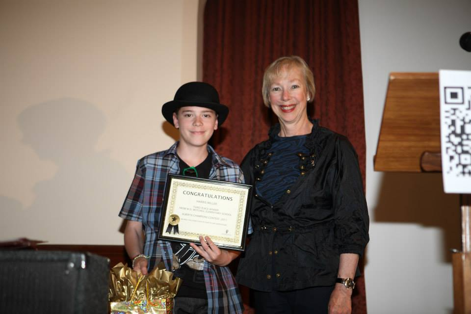 Third Prize-Harris Miller, W.O. Mitchell Elementary School For His Essay-W.O. Mitchell- Loved By All Who Knew Him