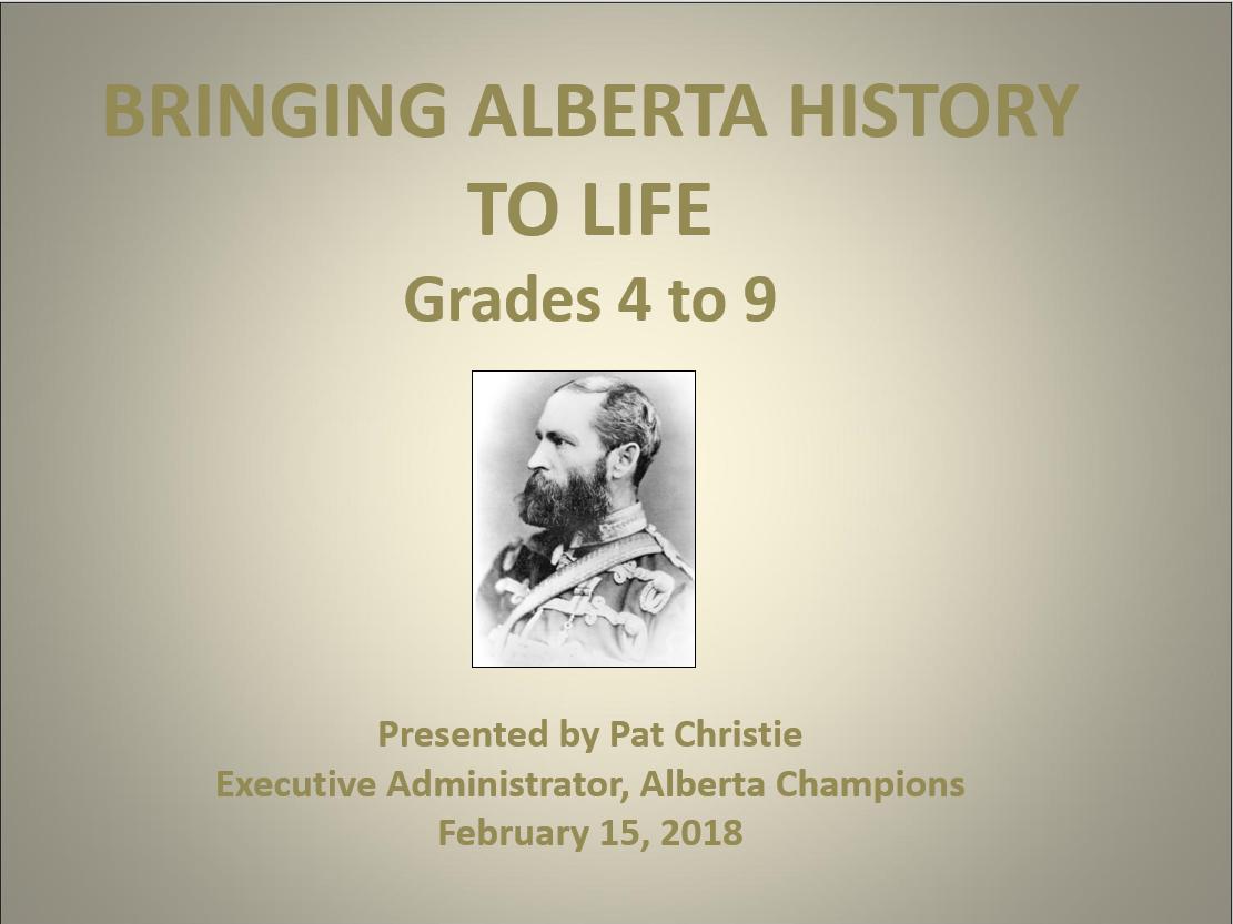 CCTCA-Bringing History To Life Presentation