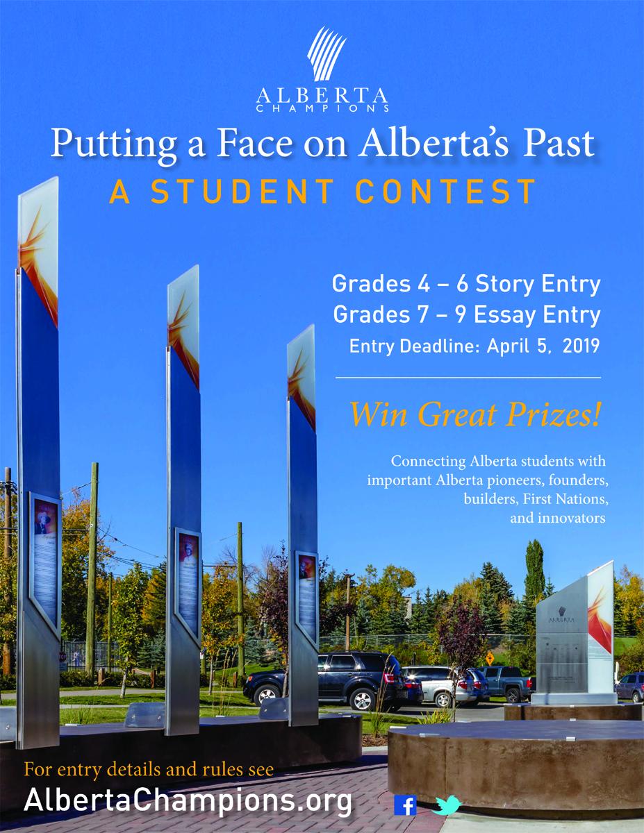 Alberta Champions Contest Poster 2019
