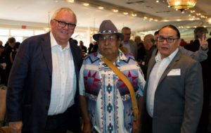 Local Aboriginal Leaders, Chief Roy Whitney, Elder Alex Crowchild, And Chief Aaron Young
