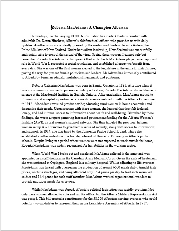 Jiya Jakher - Roberta MacAdams - A Champion Albertan