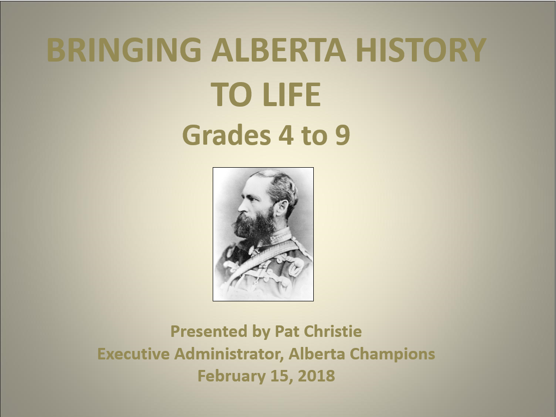 Pat Christie Is Presenting At The CCTCA Calgary Teachers Convention On Feb 15