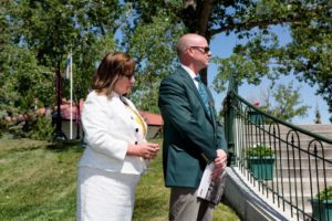 Ian Allison, President And COO Of Spruce Meadows With CEO Linda Southern-Heathcott
