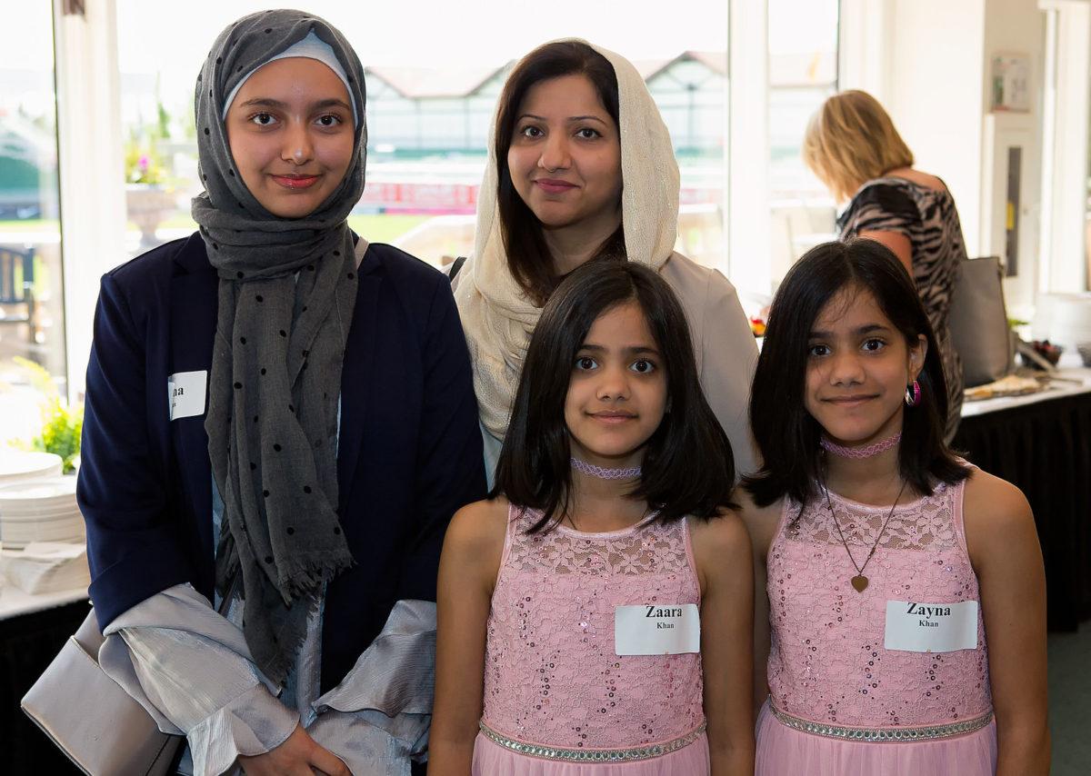 Maha Khan, Zaara Khan, Zayna Khan, and Sundus Khan (their mom)