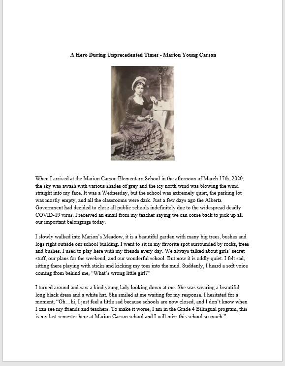 Kalia Xie - A Hero During Unprecedented Times - Marion Young Carson