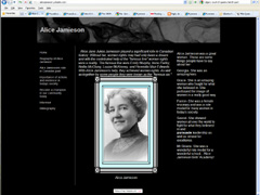 Alice Jaimeson Website