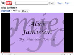 Alice Jaimeson - YouTube Video